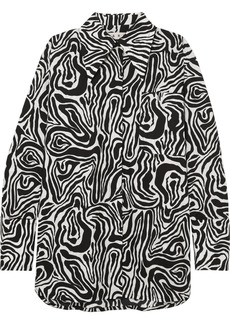 Marni Oversized Zebra-print Cotton-poplin Shirt