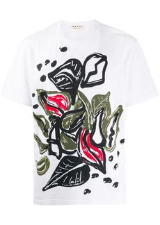 Marni painted print T-shirt