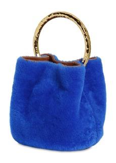 Marni Pannier Shearling Bucket Bag