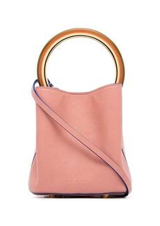 Marni pink Pannier small leather bucket bag