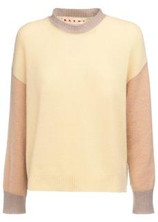 Marni Patchwork Knit Cashmere Sweater
