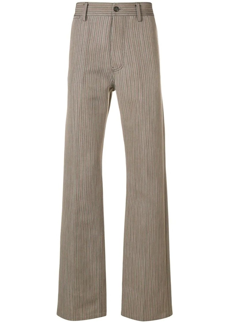 Marni patterned flared trousers