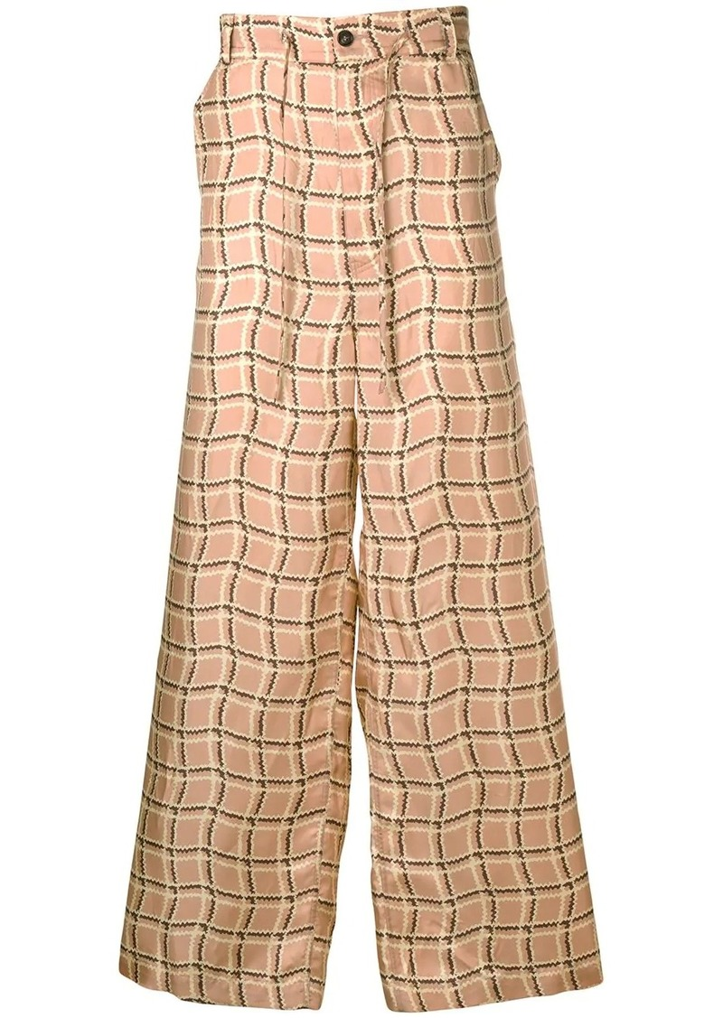 Marni patterned loose-fit trousers