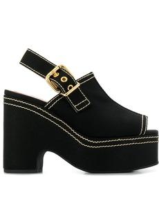 Marni peep toe wedge sandals