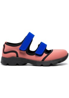 Marni Pink Blue neoprene double strap sneakers