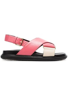Marni pink Fussbett cross-over leather sandals