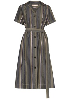 Marni pinstripe shirt midi dress