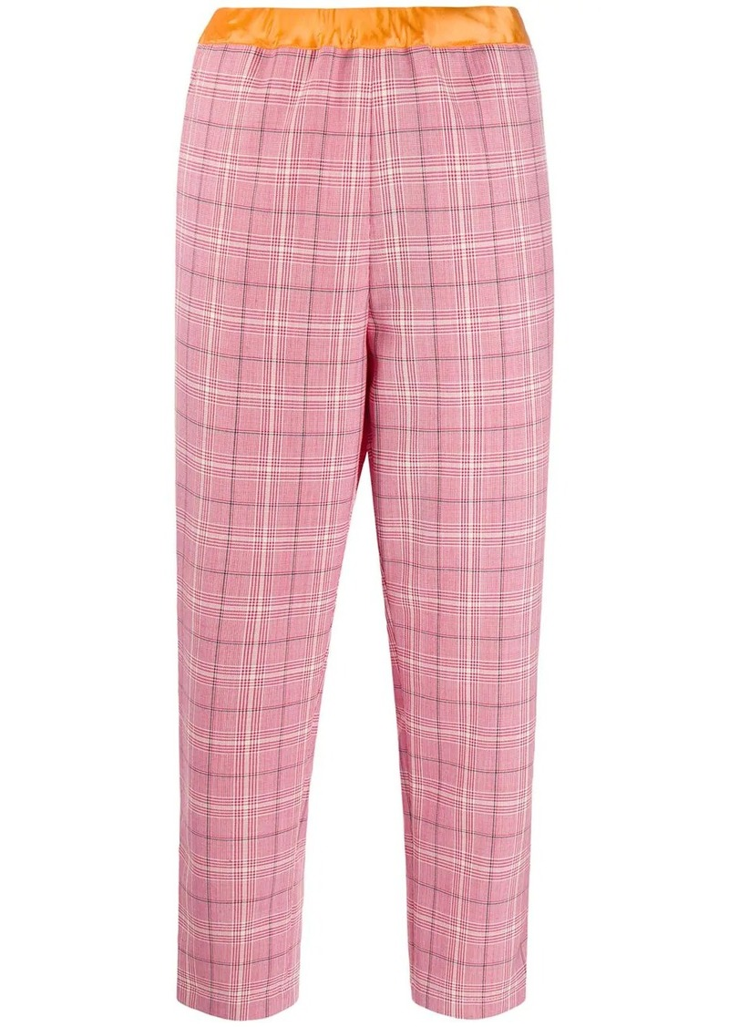 Marni plaid cropped trousers