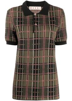 Marni plaid patterned polo shirt