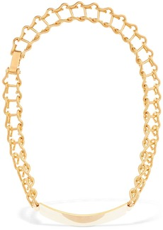 Marni Plaque Chain Short Necklace