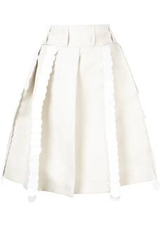 Marni pleated A-line skirt