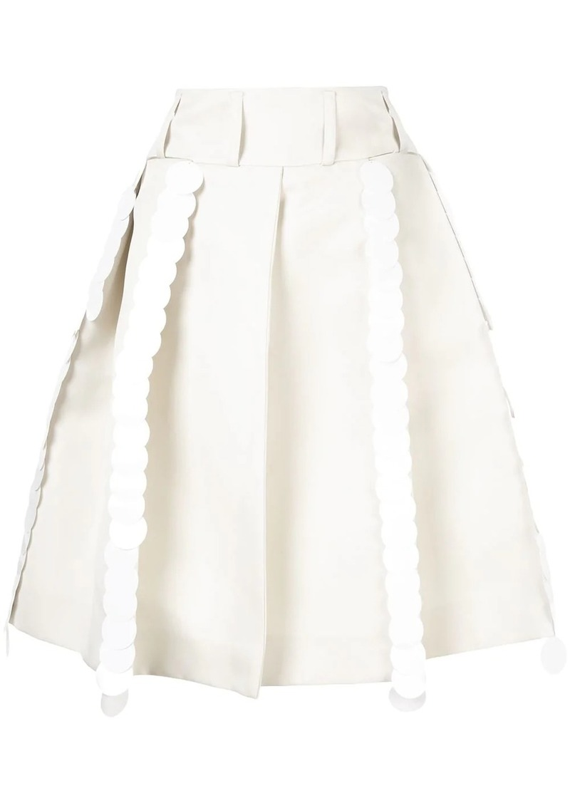 Marni pleated A-line skirt