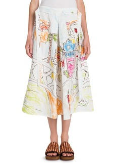 Marni Pleated Artist Skirt