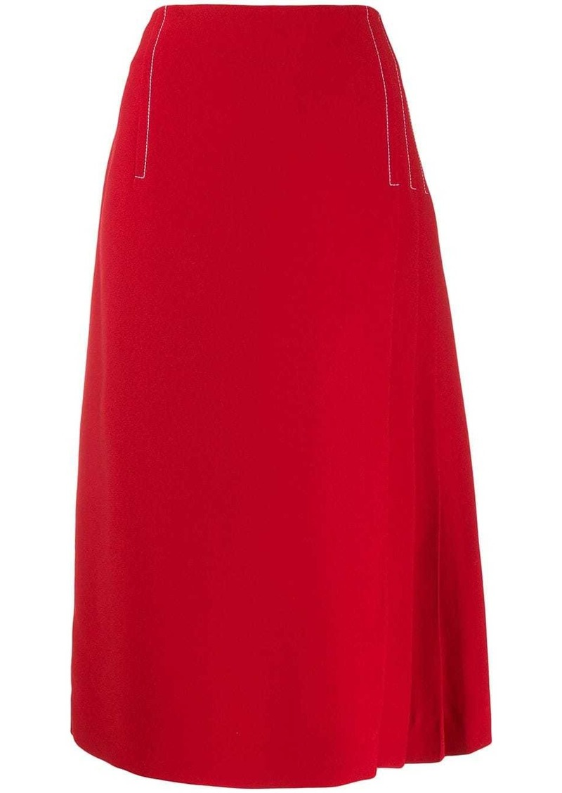 Marni pleated-detail midi skirt
