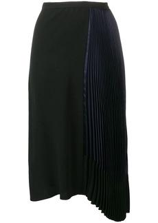 Marni pleated drape skirt