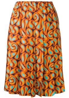 Marni pleated graphic print skirt