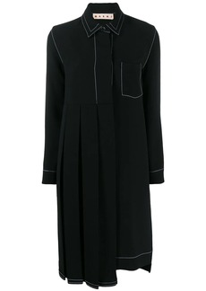 Marni pleated panel shirt dress