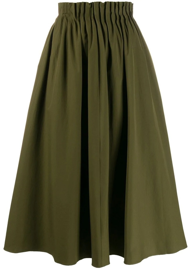 Marni pleated waist midi skirt