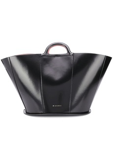 Marni polished top handle tote