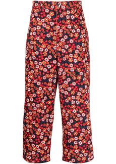 Marni Pop Garden-print cropped trousers