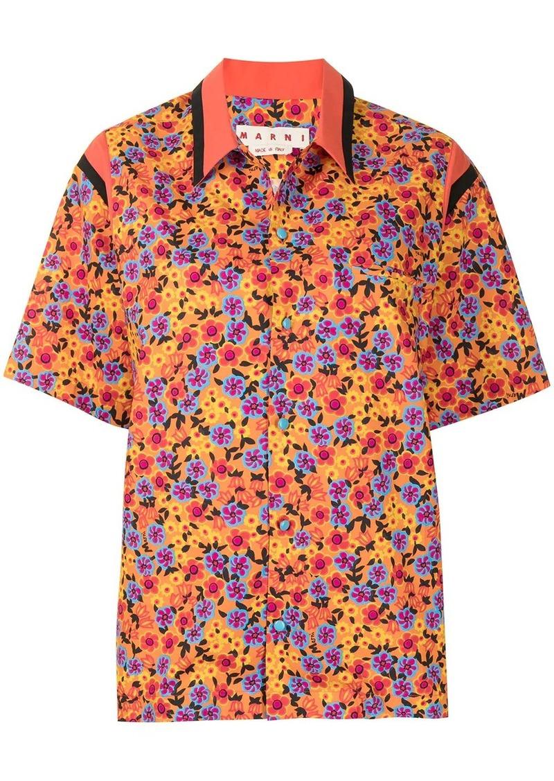 Pop Garden-print shirt