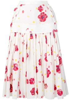 Marni poppy print skirt