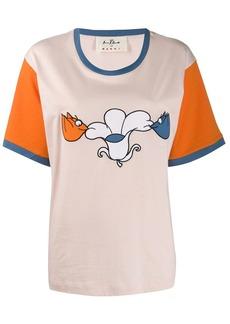 Marni printed colour block T-shirt