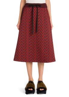 Marni Printed Compact Jersey Skirt