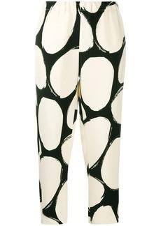 Marni printed crop trousers
