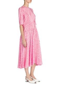 Marni Printed Drop-Waist Midi Dress