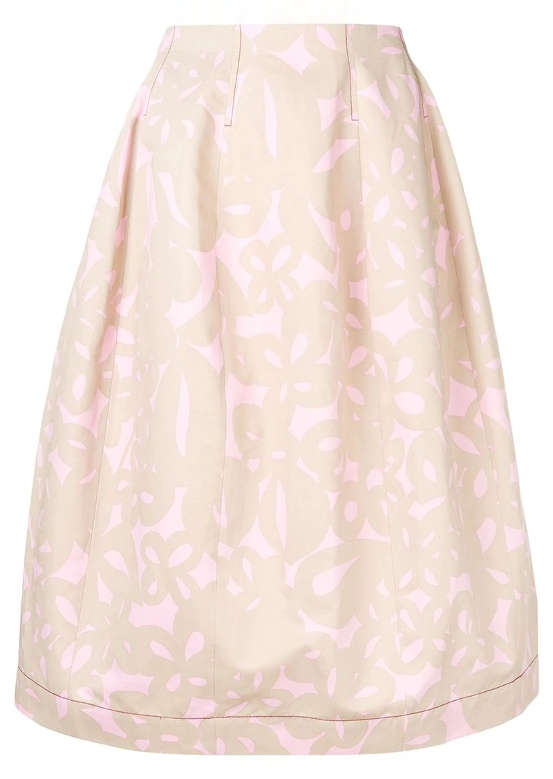 Marni printed full skirt