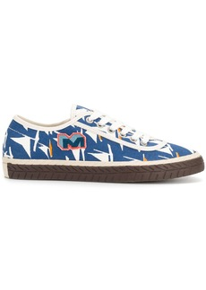 Marni printed lace-up sneakers