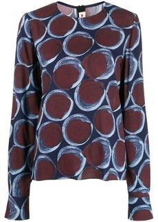 Marni printed longsleeved blouse