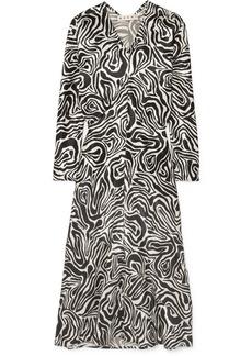 Marni Printed Poplin Midi Dress