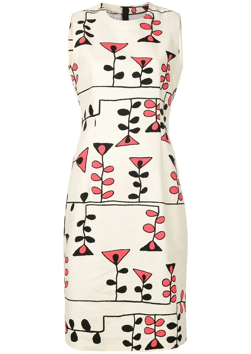 Marni printed sheath dress