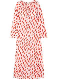 Marni Printed Silk-georgette Maxi Dress