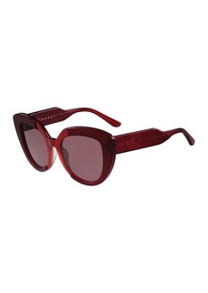 Marni Prisma Oversized 56mm Cat-Eye Sunglasses