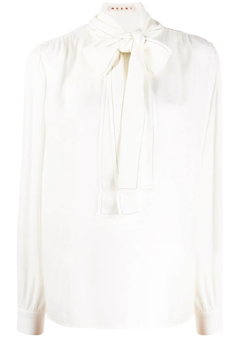 Marni pussy bow blouse
