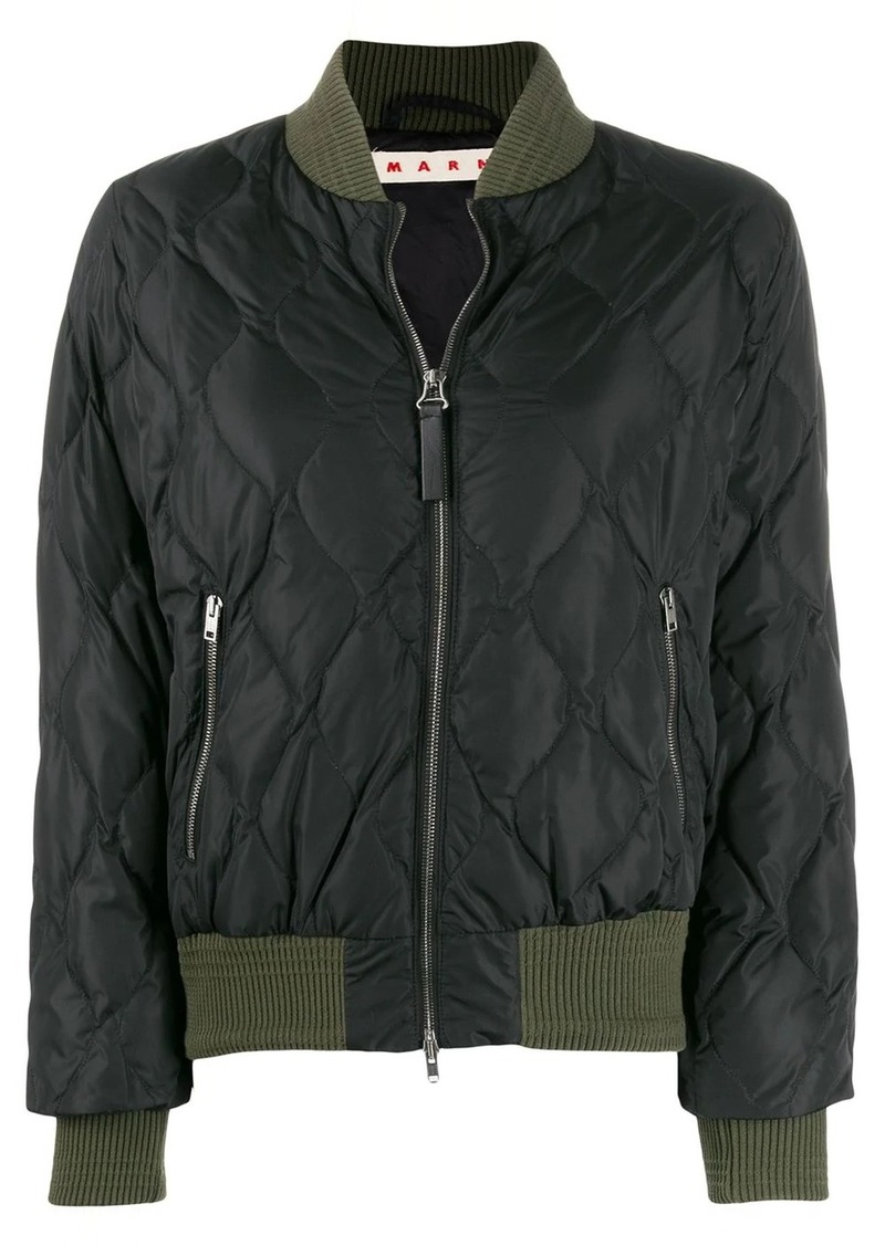 Marni quilted bomber jacket