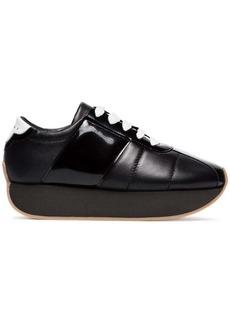 Marni Quilted leather 40mm platform sneakers