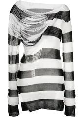 Marni rip-detail striped jumper