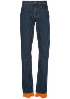 Marni contrasting trim straight-leg jeans
