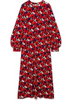Marni Ryon Floral-print Jersey Maxi Dress