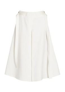 Marni Sateen A-Line Pleat Skirt
