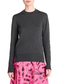 Marni Sequin-Sleeve Knit Sweater