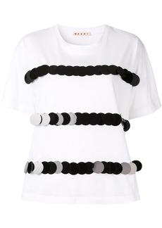 Marni sequin stripe T-shirt