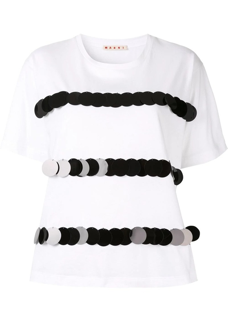 Marni sequin stripe T-shirt