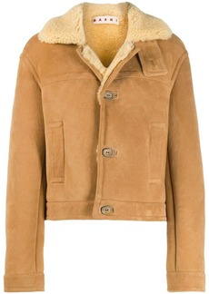 Marni shearling button-up short coat