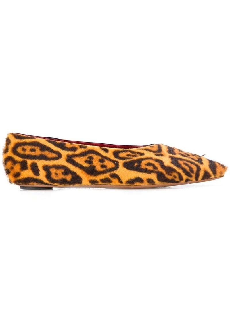 Marni sheepskin ballerina shoes