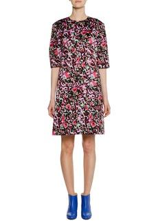 Marni Short-Sleeve Abstract-Print Cotton Woven Dress